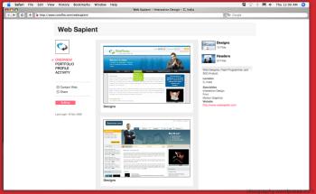 Websapient (dot) coms coroflot.com profile