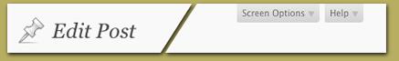 Elegant typography and icon, unobtrusive gray tabs. Boring...not!